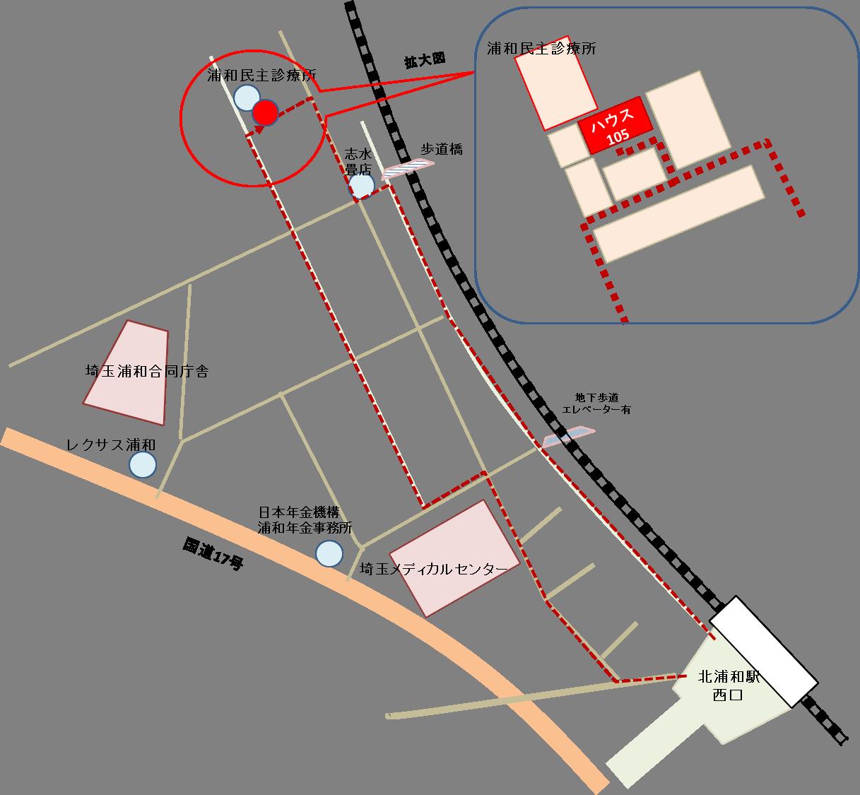 教室への地図